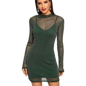 MABEL Shimmering Slip Dress